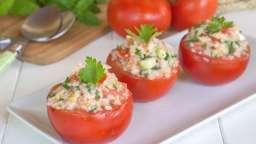 Tomates farcies au taboulé maison