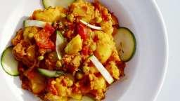 Pommes de terre, tomates et poivrons à la méridionale