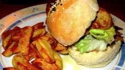 Burger gascon au canard et au foie gras