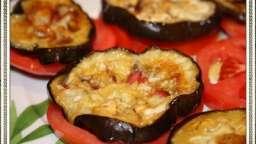 Couvre-chefs d'aubergines grillées