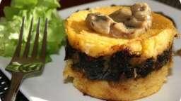 Petits dômes de polenta à la sauce aux champignons