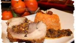 Rôti de dinde farci aux abricots & noisettes