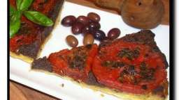 Tarte tatin aux tomates & tapenade