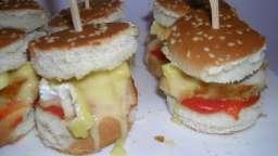 Mini Hamburger poulet, camembert
