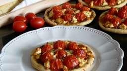 Tartelettes de tomate cerise & fromage de brebis