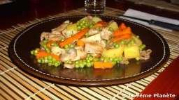 Sauté de veau aux petits légumes
