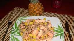 Saumon frais à l'ananas
