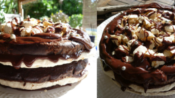 Dacquoise Cake au Chocolat au Lait