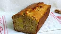 Cake rustique à la cannelle, aux pommes, noisettes et flocons d'avoine