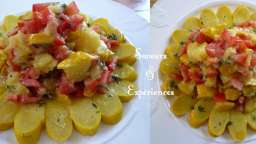 Salade de Pâtisson et Tomates, Soleil des îles