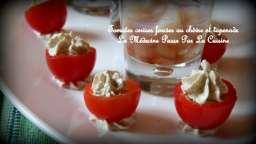 Tomates cerises farcies au chèvre et à la tapenade