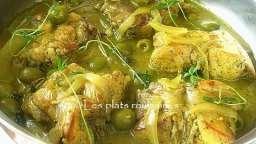 Sauté de lapin aux olives