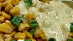 Salade de maïs, sauce crémeuse au curry