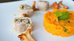 Roulés de veau cantal et jambon cru