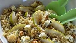 Salade de quinoa, poire et fourme d'Ambert