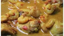 Cari ou curry Poulet et Crevettes au Lait de Coco