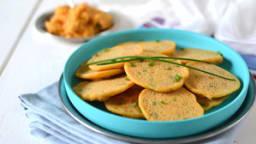 Mini-pancakes apéritifs aux légumes et épices