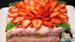 Bavarois mousseux aux fraises