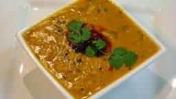 Ragoût de lentilles aux épices indiennes, dal, vegan