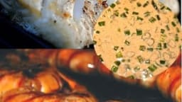 Cabillaud et crevettes au barbecue, plancha sauce Bayou