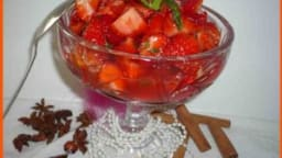 Salade orientale de fraises aux épices.