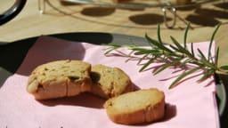 Sablés au romarin & à la fleur de sel à la farine de seigle