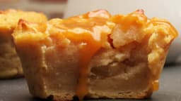 Mini puddings aux pommes et caramel beurre salé