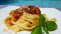Tagliatelle avec Sauce Bolognaise