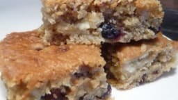 Blondies chocolat blanc et cranberries