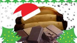Rouleaux de Noël fourrés au chocolat
