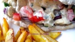 Chawarma de poulet à la libanaise et sauce tarator