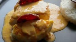 Filets de poulet à la crème de Chorizo