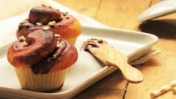 Brioches roulées chocolat et caramel