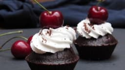 Cupcakes façon forêt noire