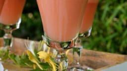 Thé glacé melon-fraises-gingembre