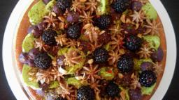 Tarte briochée gianduja mûre pistache