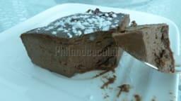 Fondant au chocolat à la ricotta, fort en chocolat et sans gluten