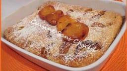 Clafoutis aux abricots rôtis.