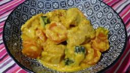 Curry Jaune de Poulet aux Carottes et Courgettes