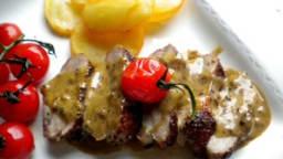 Filet de canard au poivre et à l'Armagnac