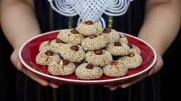Ghriba aux sésames, amandes et noix de coco