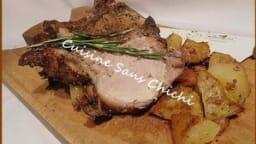 Carré de porc aux herbes de Provence et ses pommes de terre rôties