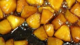 La tarte Tatin aux pommes, dressage minute