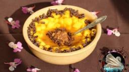 Flocons crémeux sans cuisson mangue chocolat