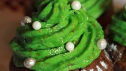 Sapins de Noël au chocolat et pistache