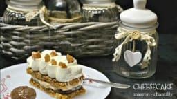 Cheesecake en individuel aux marrons ou au praliné