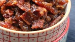 Confiture de bacon au bourbon et au sirop d'érable