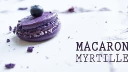 Macarons ganache myrtille