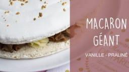 Gâteau macaron à la vanille et au praliné