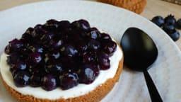 Tartelette myrtilles, spéculoos, crème mascarpone